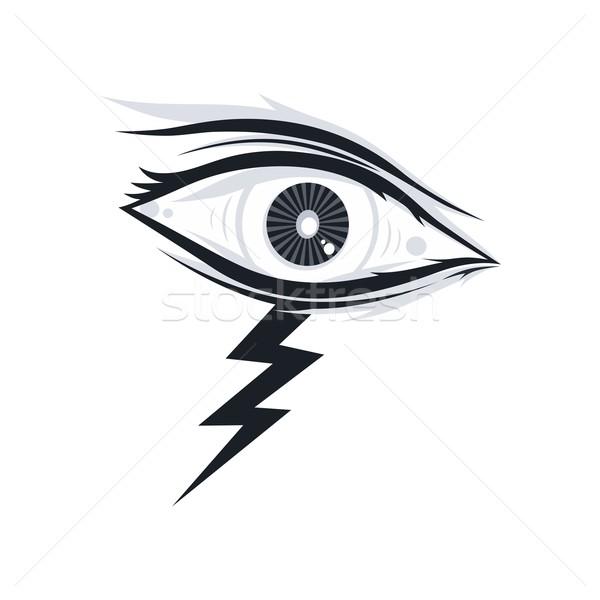 глаза иллюстрация художественный аннотация вектора искусства Сток-фото © vector1st