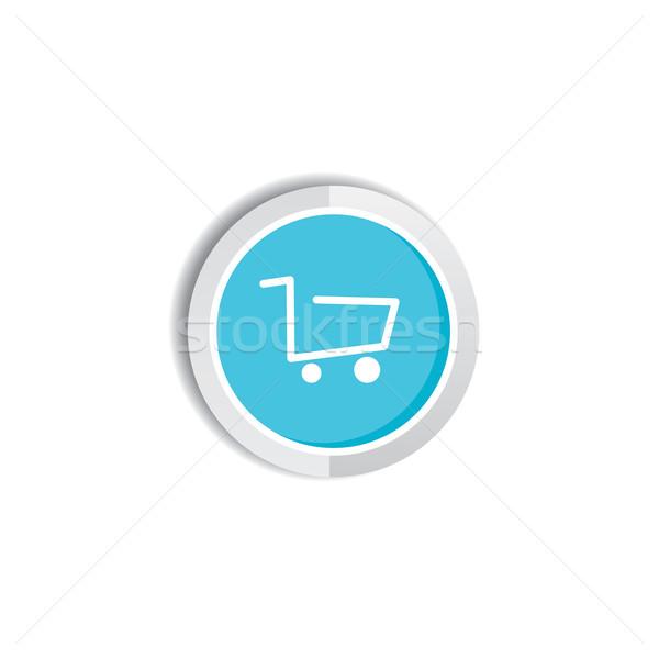 магазин икона кнопки вектора искусства иллюстрация Сток-фото © vector1st