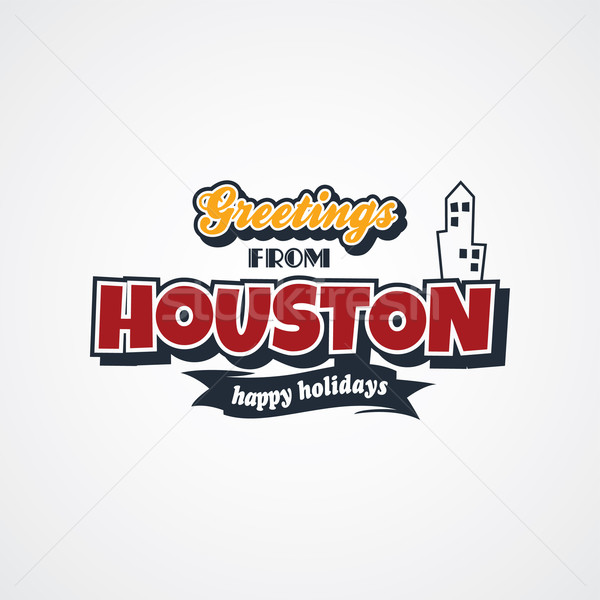 Houston vakantie vector kunst illustratie Stockfoto © vector1st