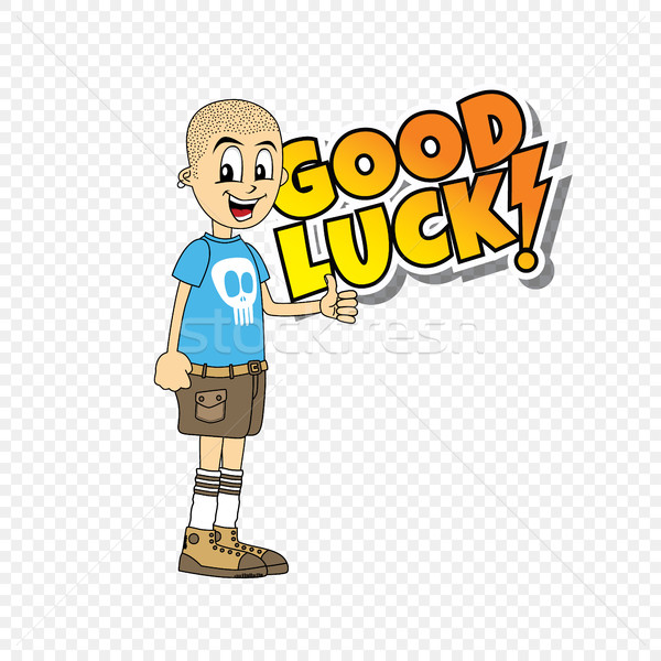 male cartoon character good luck theme Stock photo © vector1st