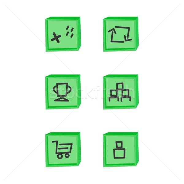 Spiel Vermögenswerte Element Vektor Kunst Grafik-Design Stock foto © vector1st