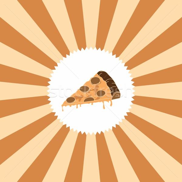 étel ital pizza grafikus művészet étterem Stock fotó © vector1st