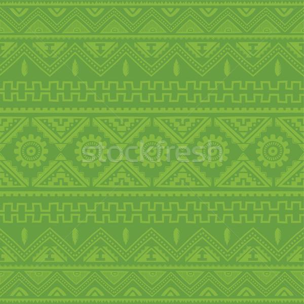 薄緑 ネイティブ アメリカン 民族 パターン ベクトル ストックフォト © vector1st