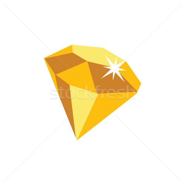 Diamant Spiel Asset Symbol Zeichen Symbol Stock foto © vector1st