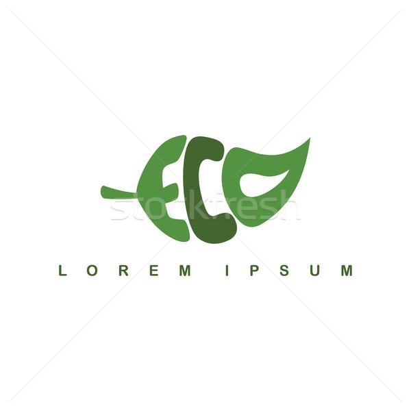 Ekoloji organik doğal imzalamak doğa logo Stok fotoğraf © vector1st