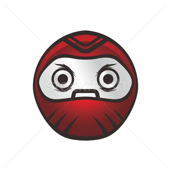 Japonia wojownika lalek charakter wektora sztuki Zdjęcia stock © vector1st