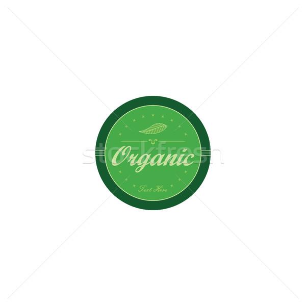 Friss környezetbarát zöld címke vektor művészet Stock fotó © vector1st