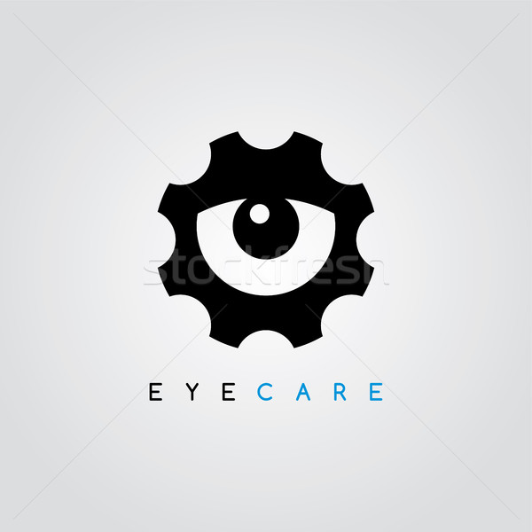 cog setting service logo art theme Stock photo © vector1st