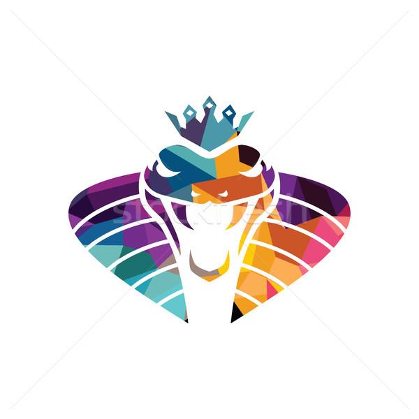 Stock photo: vector snake logo template danger snake icon viper black silhouette
