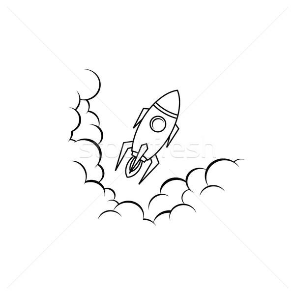 Ruimte schip raket vector ontdekkingsreiziger kunst Stockfoto © vector1st
