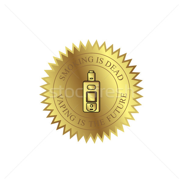 vaporizer electric cigarette vapor mod - badge label Stock photo © vector1st