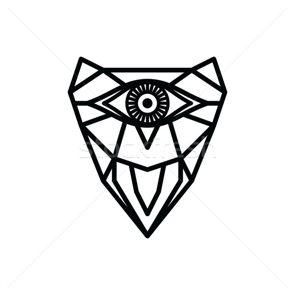 One Eye Owl Logo Logotype Theme Vector Vector Illustration