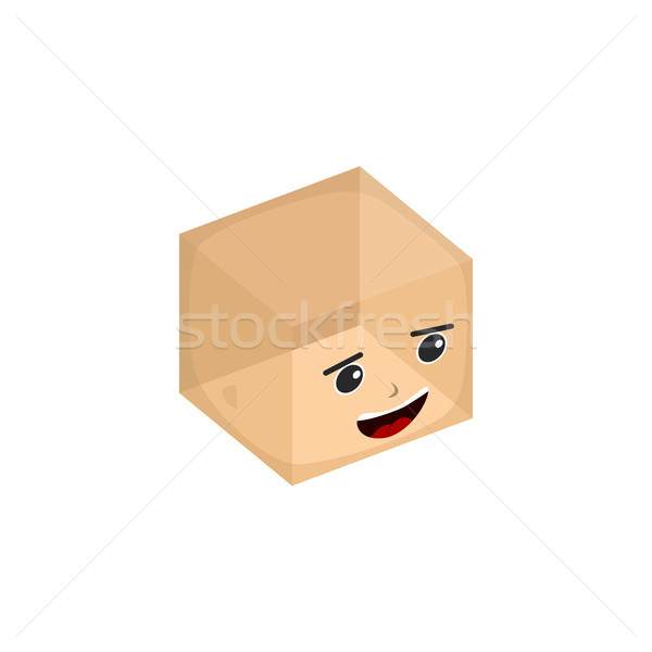 cube box transparent isometric cartoon character Stock photo © vector1st