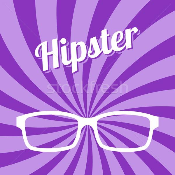 hipster glasses art Stock photo © vector1st