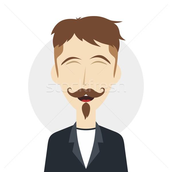 Divertente ridere ragazzo maschio Foto d'archivio © vector1st