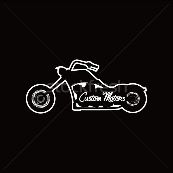 Motosiklet bisiklet vektör sanat örnek Stok fotoğraf © vector1st