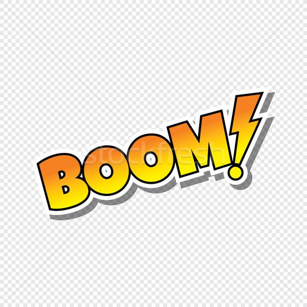 boom cartoon text sticker Stock photo © vector1st