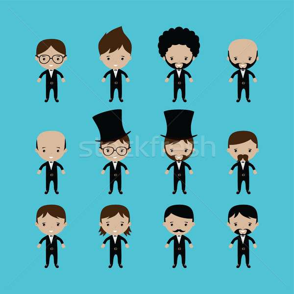 Adorable novio Cartoon matrimonio vector arte Foto stock © vector1st