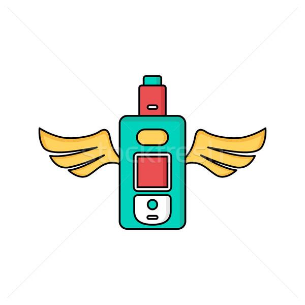 angel wing vape vaporizer electric cigarette Stock photo © vector1st