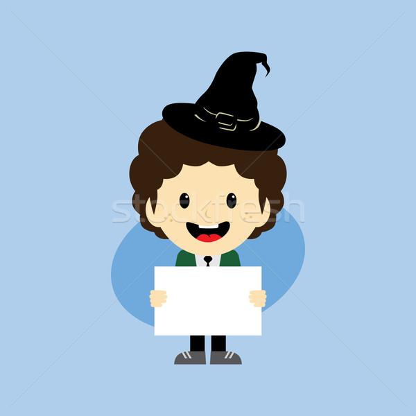 Halloween rajzfilmfigura vektor művészet illusztráció horror Stock fotó © vector1st