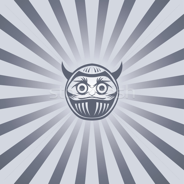 Mal Buda guerrero vector arte ilustración Foto stock © vector1st