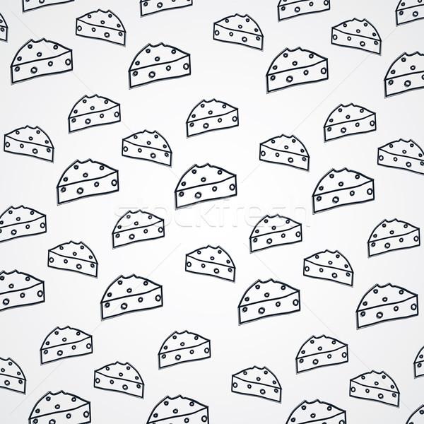 チーズ スケッチ ベクトル 芸術 実例 ストックフォト © vector1st