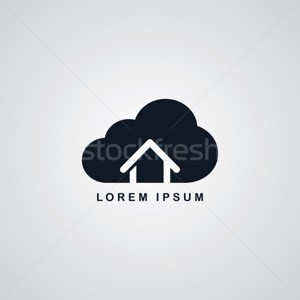 host cloud theme Stock photo © vector1st