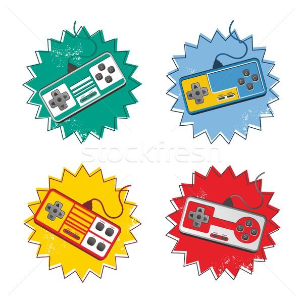 видеоигра утешить искусства вектора графических дизайна Сток-фото © vector1st