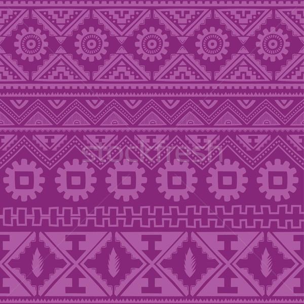 Lila őslakos amerikai kisebbségi minta vektor Stock fotó © vector1st