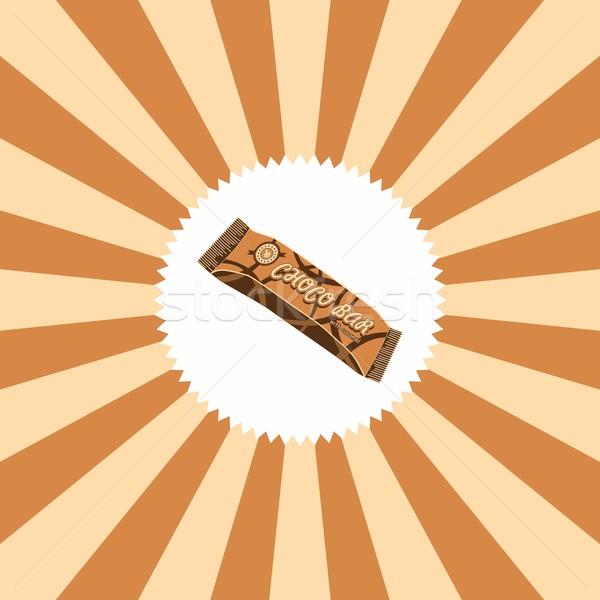 食品 ドリンク チョコレートバー グラフィック 芸術 チョコレート ストックフォト © vector1st