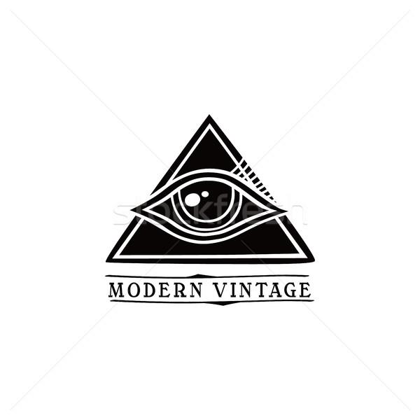 Szem szimbólum egy vektor művészet illusztráció Stock fotó © vector1st