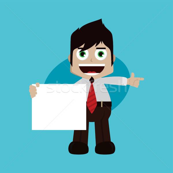 бизнесмен менеджера работу Cartoon Сток-фото © vector1st