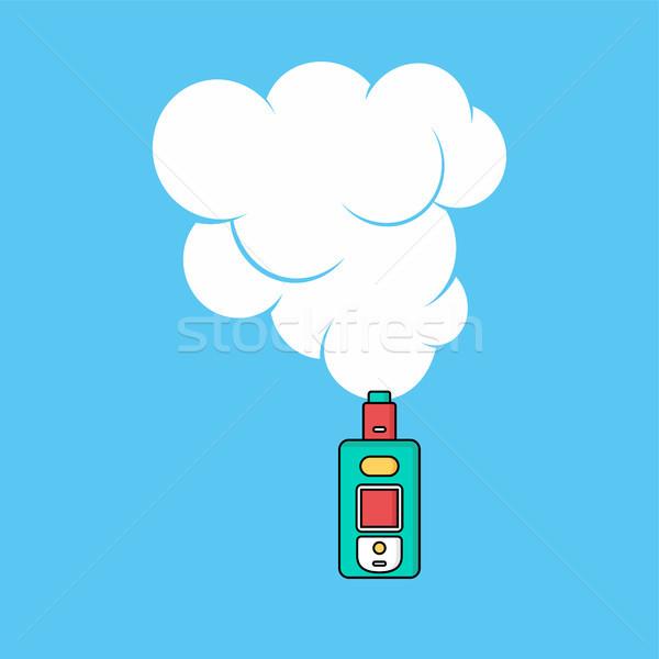Stock photo: electric cigarette personal vaporizer cloud maker