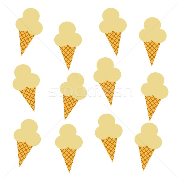 ice cream pattern Stock photo © vector1st