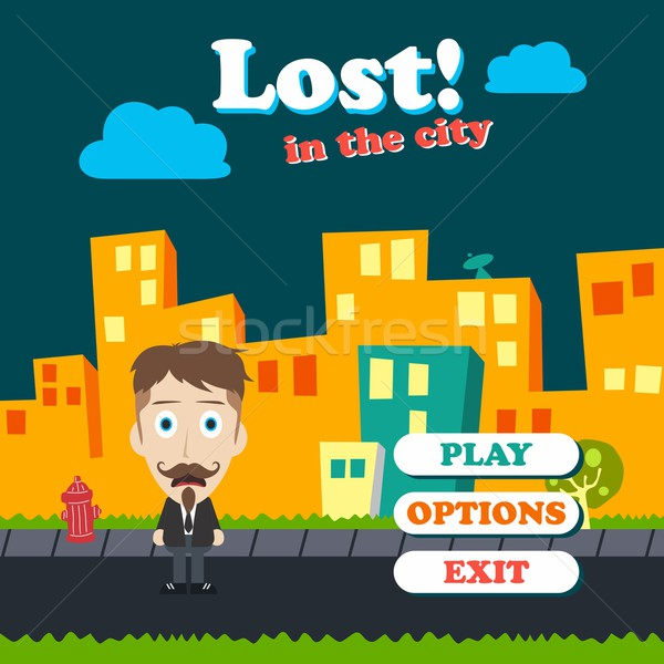 game asset funny guy cartoon Stock photo © vector1st