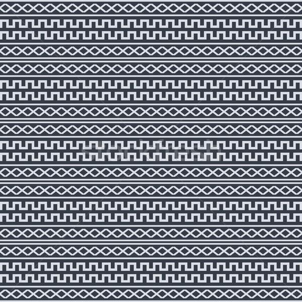 Inlander etnische kunst weefsel adelaar print Stockfoto © vector1st