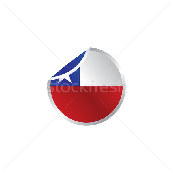glossy theme chile national flag Stock photo © vector1st