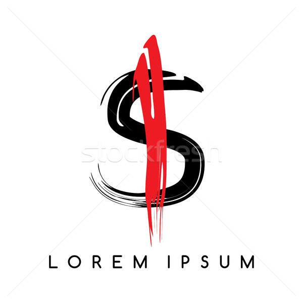 письме цвета логотип шаблон вектора Сток-фото © vector1st