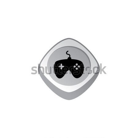 joystick glossy color app icon button game asset theme vector Stock photo © vector1st
