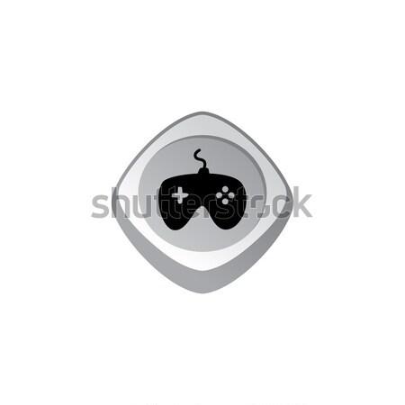 Joystick glänzend Farbe App Symbol Taste Stock foto © vector1st