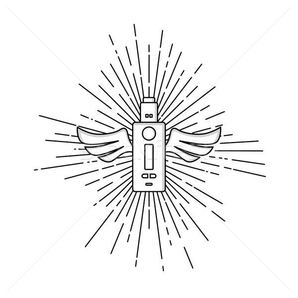 Elektrik sigara kişisel vektör Stok fotoğraf © vector1st