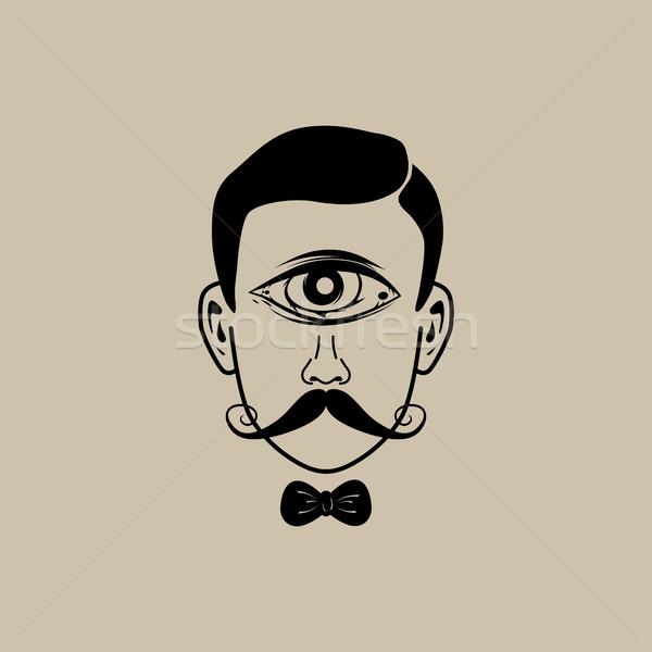 Сток-фото: глаза · ретро · джентльмен · вектора