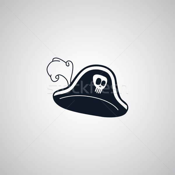 pirate captain hat flat icon theme Stock photo © vector1st