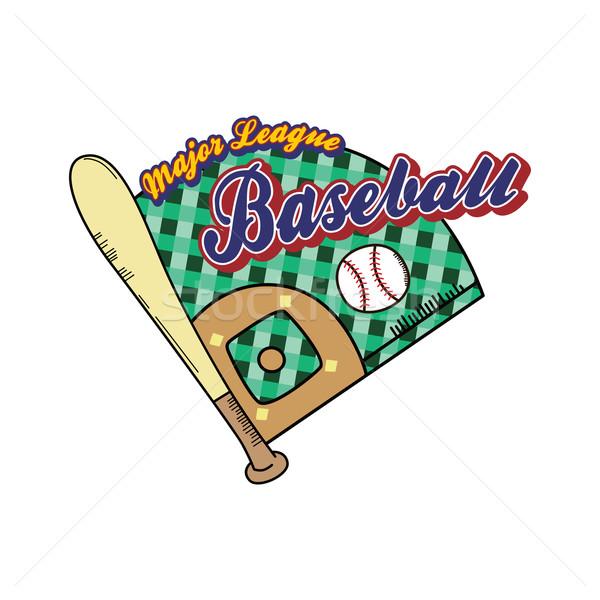 Beisebol liga esportes vetor arte ilustração Foto stock © vector1st