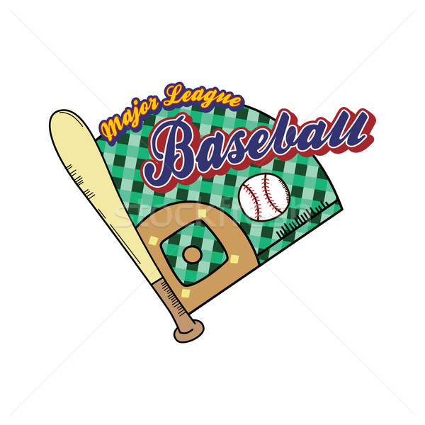 Béisbol liga deporte vector arte ilustración Foto stock © vector1st
