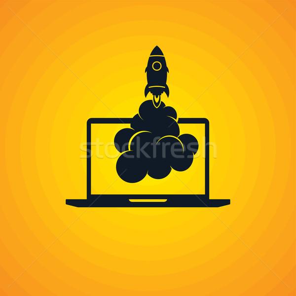 start up program rocket computer boot program Stock photo © vector1st