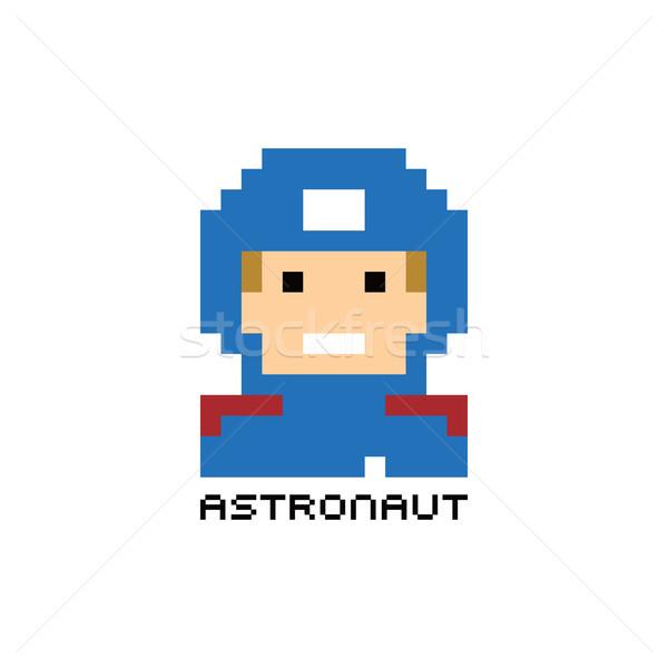 pixel people astronaut theme avatar guy Stock photo © vector1st