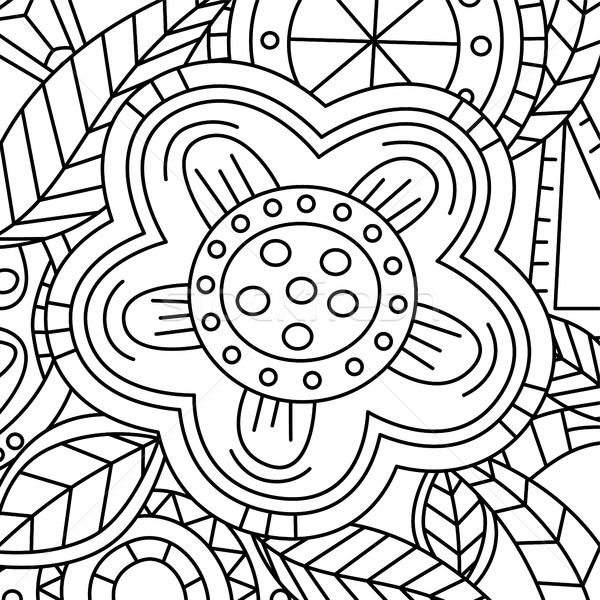 Floral Pattern Hand Drawn Texture with Flowers Stock photo © vector1st