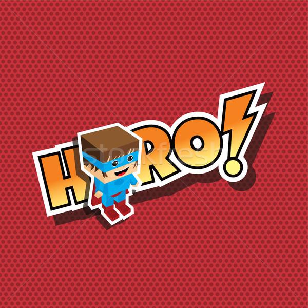 Groot cartoon vector kunst illustratie Stockfoto © vector1st