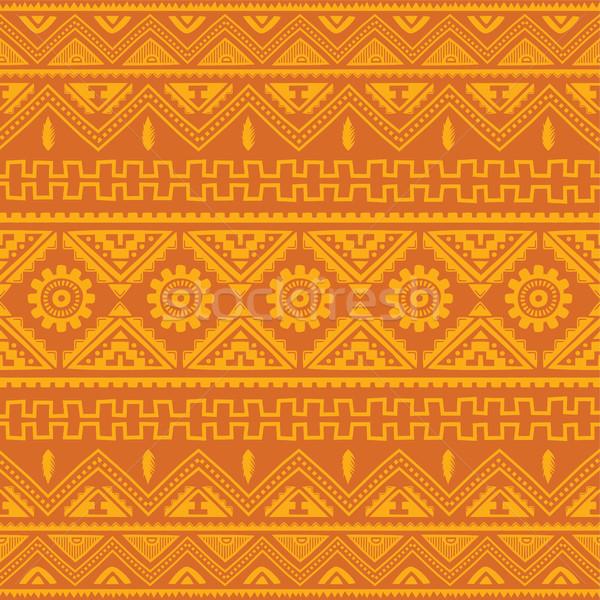 Turuncu yerli amerikan etnik model vektör Stok fotoğraf © vector1st
